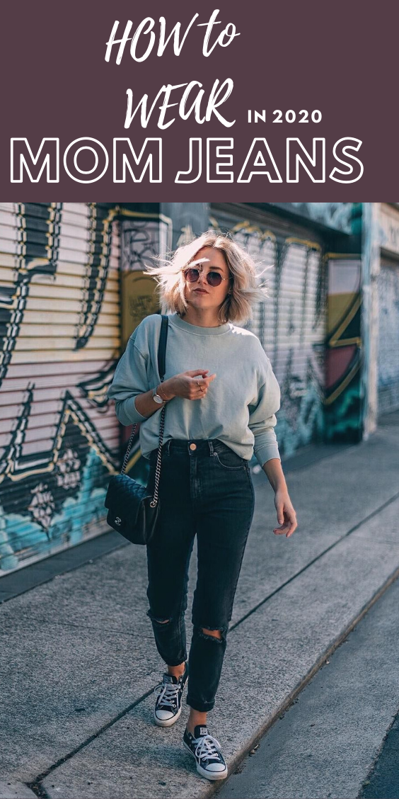Black mom jeans outfit - how to wear them in 2020 according to latest fashion trends