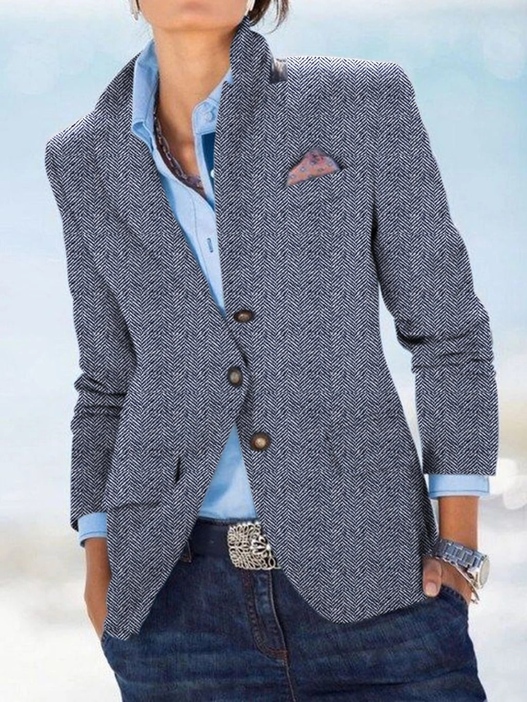 wear a blazer with a collared shirt