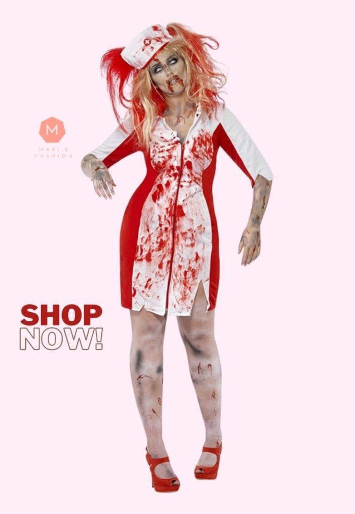 plus size womens zombie costume