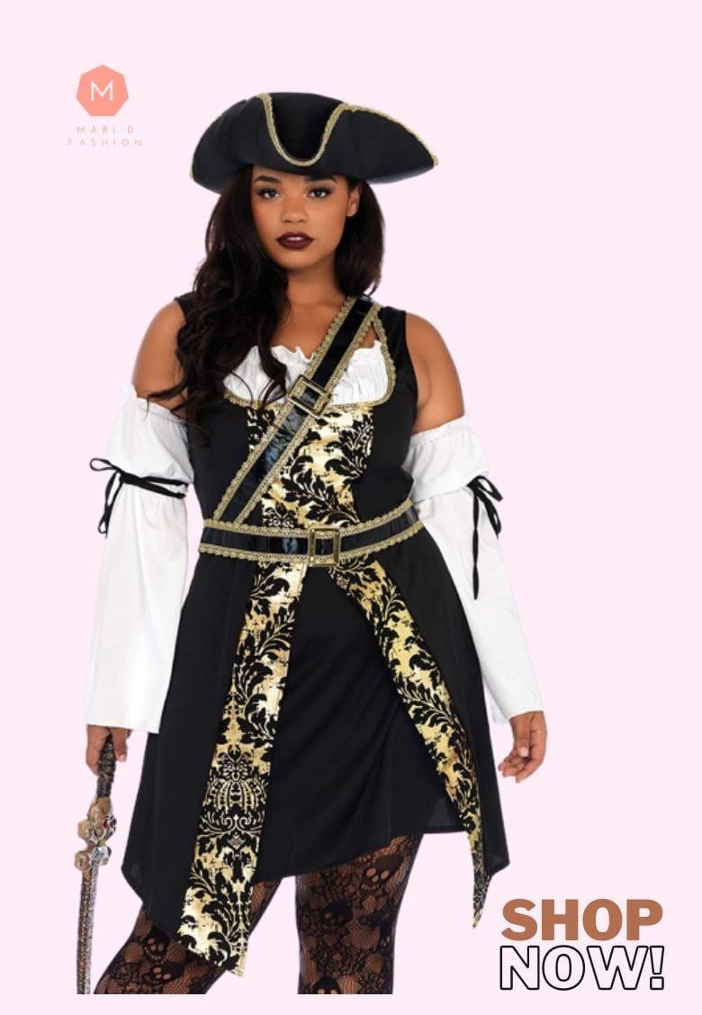 women's plus size pirate halloween costumes