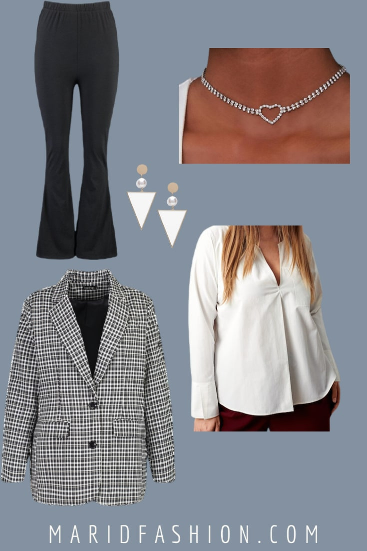 smart casual plus size women's outfits