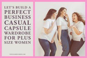 plus size business casual capsule wardrobe